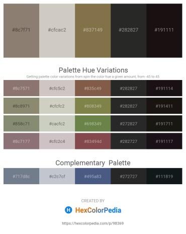 Palette image download - Gray – Silver – Dark Olive Green – Black – Black