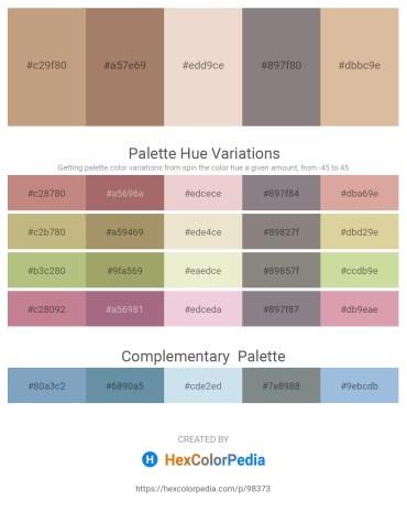 Palette image download - Tan – Rosy Brown – Beige – Gray – Tan