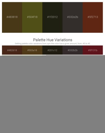 Palette image download - Dim Gray – Dark Olive Green – Peru – Black – Saddle Brown