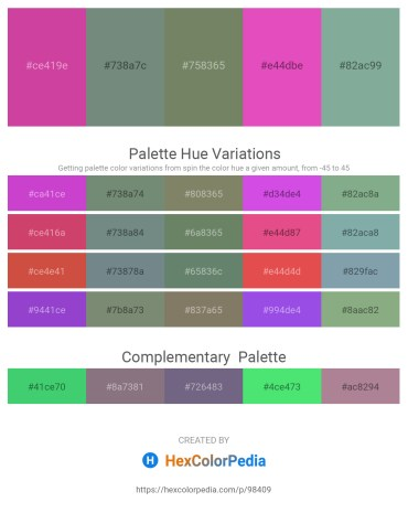 Palette image download - Pale Violet Red – Slate Gray – Dim Gray – Orchid – Dark Sea Green
