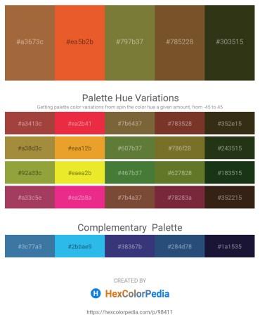 Palette image download - Sienna – Chocolate – Dark Olive Green – Sienna – Dark Olive Green