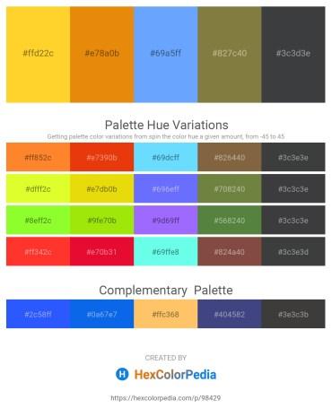 Palette image download - Gold – Dark Orange – Light Sky Blue – Dark Olive Green – Dark Slate Gray
