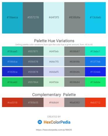 Palette image download - Light Sea Green – Slate Gray – Pale Turquoise – Slate Gray – Deep Sky Blue