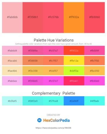 Palette image download - Light Pink – Salmon – Tomato – Dark Orange – Tomato