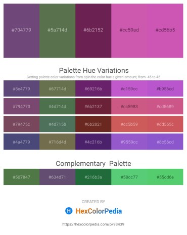 Palette image download - Dark Slate Blue – Dark Olive Green – Rosy Brown – Pale Violet Red – Orchid