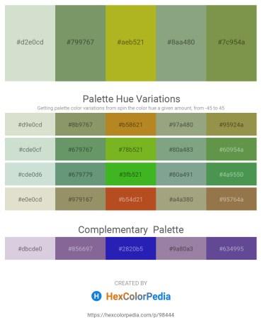 Palette image download - Dark Sea Green – Dark Sea Green – Yellow Green – Dark Sea Green – Dark Olive Green