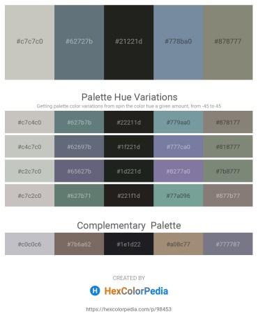 Palette image download - Silver – Slate Gray – Black – Light Slate Gray – Gray