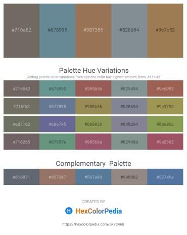 Palette image download - Dim Gray – Slate Gray – Rosy Brown – Light Slate Gray – Light Sea Green