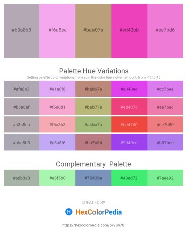 Palette image download - Dark Gray – Violet – Dark Khaki – Hot Pink – Violet
