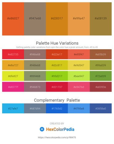 Palette image download - Chocolate – Gray – Chocolate – Sandy Brown – Indian Red