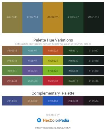 Palette image download - Dark Olive Green – Cadet Blue – Chocolate – Dark Slate Gray – Dark Slate Gray