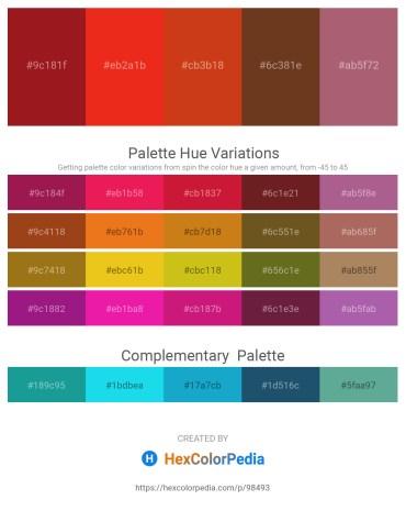 Palette image download - Firebrick – Crimson – Chocolate – Sienna – Rosy Brown