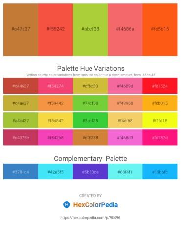 Palette image download - Peru – Tomato – Yellow Green – Salmon – Orange Red