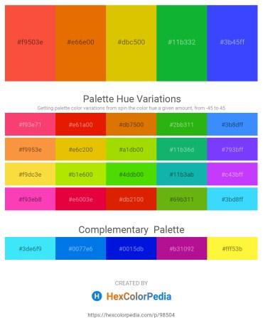 Palette image download - Tomato – Dark Orange – Gold – Forest Green – Royal Blue