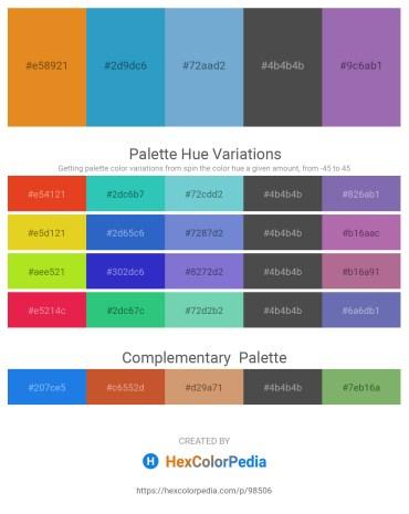 Palette image download - Goldenrod – Light Sea Green – Indian Red – Dim Gray – Slate Blue