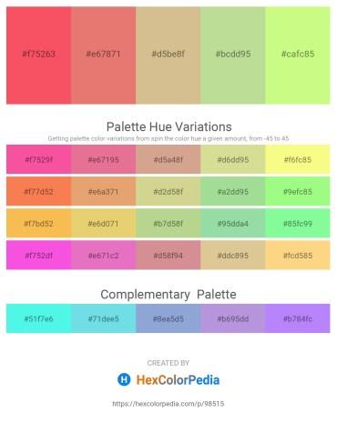 Palette image download - Tomato – Dark Salmon – Tan – Indian Red – Pale Green