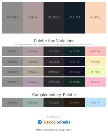 Palette image download - Gray – Dark Gray – Dark Slate Gray – Dark Slate Gray – Peach Puff