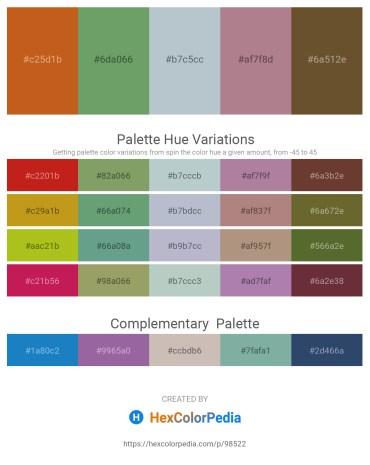 Palette image download - Chocolate – Dark Sea Green – Light Steel Blue – Rosy Brown – Dark Olive Green