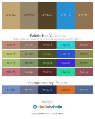 Palette image download - Dark Khaki – Gray – Dark Olive Green – Royal Blue – Dim Gray