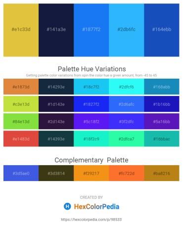Palette image download - Goldenrod – Midnight Blue – Dodger Blue – Dodger Blue – Royal Blue