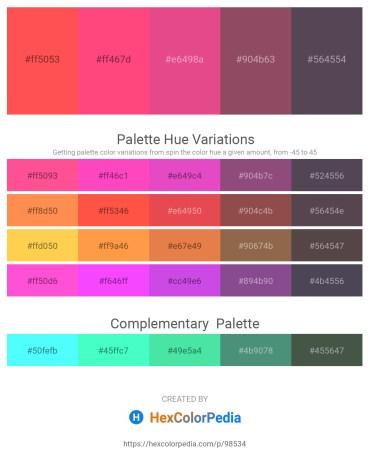 Palette image download - Tomato – Tomato – Pale Violet Red – Medium Aquamarine – Dim Gray