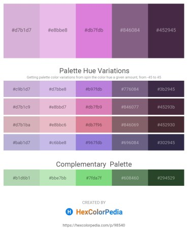 Palette image download - Thistle – Plum – Orchid – Goldenrod – Gray