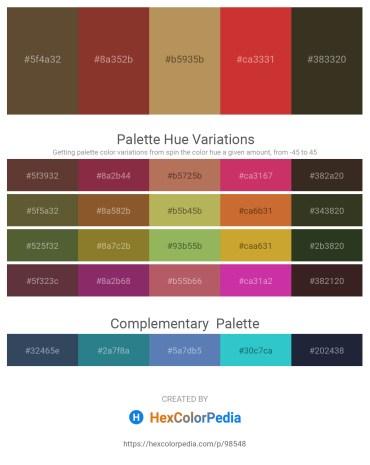 Palette image download - Dark Olive Green – Brown – Dark Khaki – Brown – Light Steel Blue