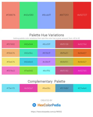 Palette image download - Light Coral – Turquoise – Light Sky Blue – Indian Red – Crimson