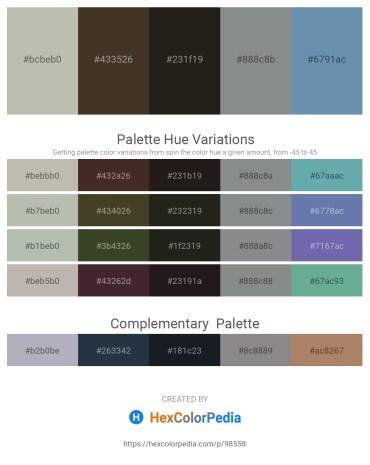 Palette image download - Silver – Olive Drab – Black – Slate Gray – Cadet Blue