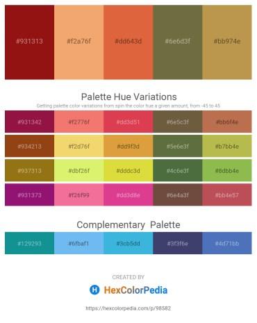 Palette image download - Saddle Brown – Sandy Brown – Chocolate – Dark Olive Green – Dark Khaki