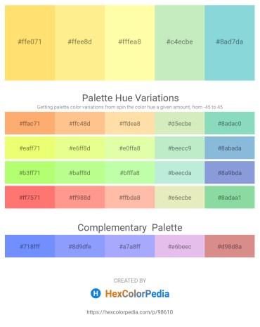 Palette image download - Pink – Navajo White – Moccasin – Beige – Light Blue
