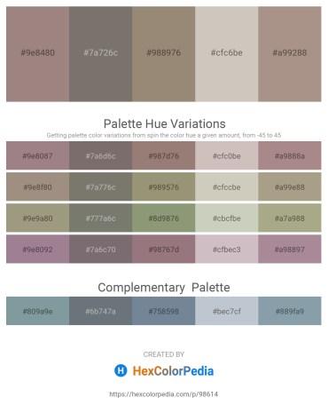 Palette image download - Gray – Dim Gray – Gray – Silver – Rosy Brown