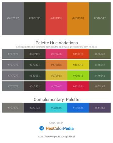 Palette image download - Slate Gray – Gray – Chocolate – Chocolate – Dark Olive Green