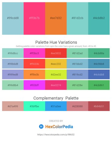Palette image download - Light Steel Blue – Deep Pink – Chocolate – Medium Aquamarine – Medium Aquamarine