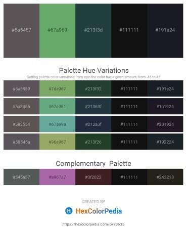 Palette image download - Dim Gray – Dark Sea Green – Dark Slate Gray – Black – Gray