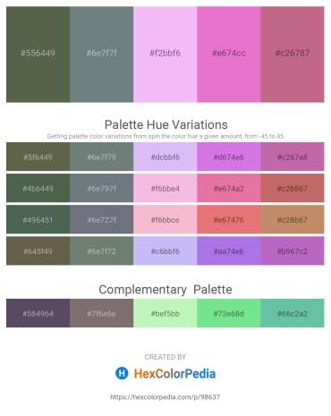 Palette image download - Dark Olive Green – Slate Gray – Lavender – Orchid – Indian Red