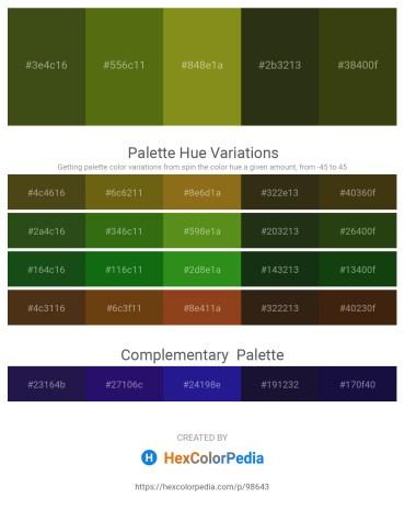Palette image download - Dark Olive Green – Olive Drab – Olive Drab – Dark Olive Green – Black