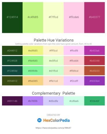 Palette image download - Midnight Blue – Pale Green – Lemon Chiffon – Pink – Crimson