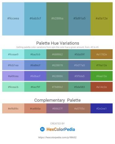 Palette image download - Sky Blue – Slate Gray – Cadet Blue – Cadet Blue – Yellow Green