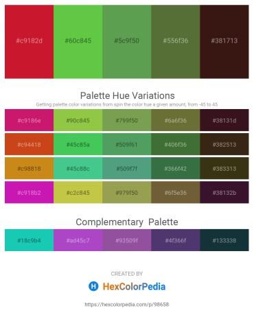 Palette image download - Crimson – Lime Green – Medium Sea Green – Dark Olive Green – Black