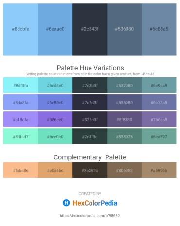 Palette image download - Light Sky Blue – Sky Blue – Dark Slate Gray – Slate Gray – Light Slate Gray