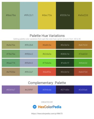 Palette image download - Dark Sea Green – Dark Sea Green – Goldenrod – Dark Olive Green – Yellow Green