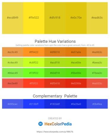 Palette image download - Thistle – Gold – Goldenrod – Gold – Goldenrod