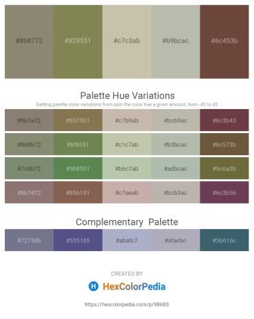Palette image download - Gray – Dark Olive Green – Dark Sea Green – Silver – Black