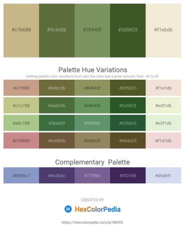 Palette image download - Tan – Dark Olive Green – Dark Sea Green – Dark Olive Green – Beige
