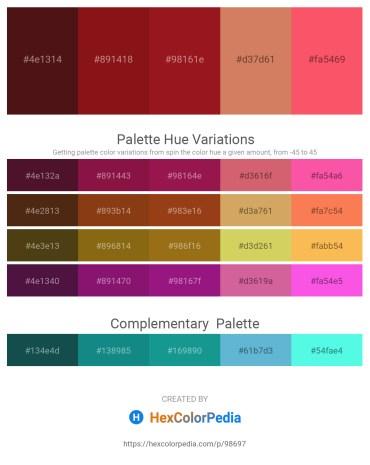 Palette image download - Medium Spring Green – Saddle Brown – Firebrick – Indian Red – Tomato