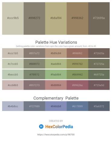 Palette image download - Silver – Gray – Dark Khaki – Slate Gray – Dim Gray