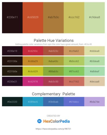 Palette image download - Light Sea Green – Chocolate – Peru – Dark Khaki – Tan
