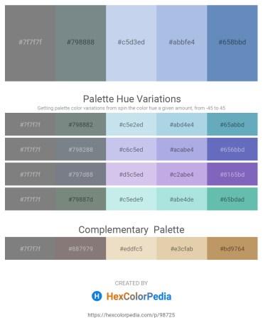 Palette image download - Gray – Slate Gray – Light Blue – Light Blue – Steel Blue