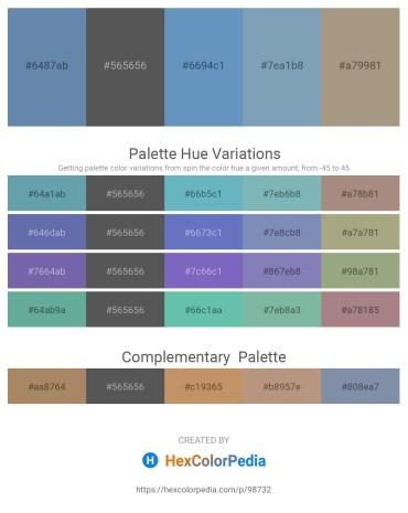 Palette image download - Cadet Blue – Dim Gray – Steel Blue – Cadet Blue – Rosy Brown